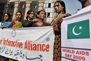 Transgender sex workers in Pakistan are at an increased risk of HIV and other sexually transmitted diseases. Photo: AFP