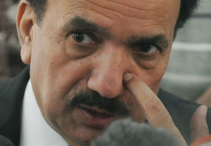 Leading by example: Federal Interior Minister Rehman Malik, who is responsible for the country's internal security, declared that he too would shoot anyone who commits blasphemy, giving the zealots the license to kill. Photo: AFP