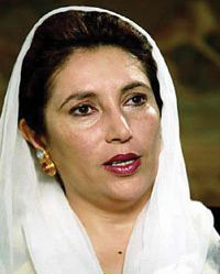 Benazir Bhutto. Photograph: AFP