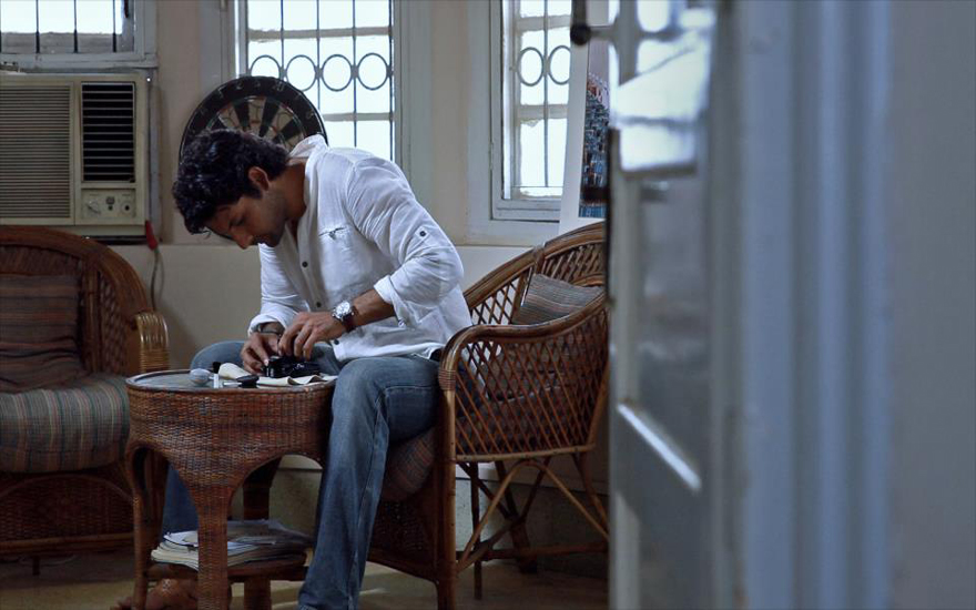 The actor at work: A screenshot of Mohib Mirza in Lamha.