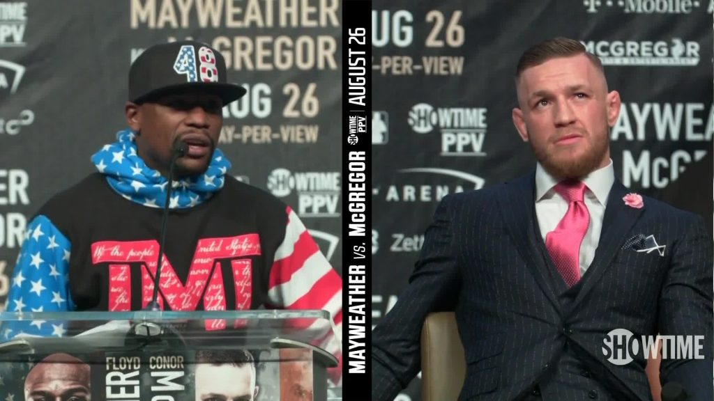 McGregor clowns Mayweather about tax issues at press conference