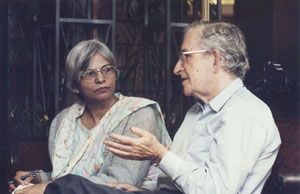 November 2011: Interviewing Noam Chomsky, the American linguist and political analyst, in Islamabad.
