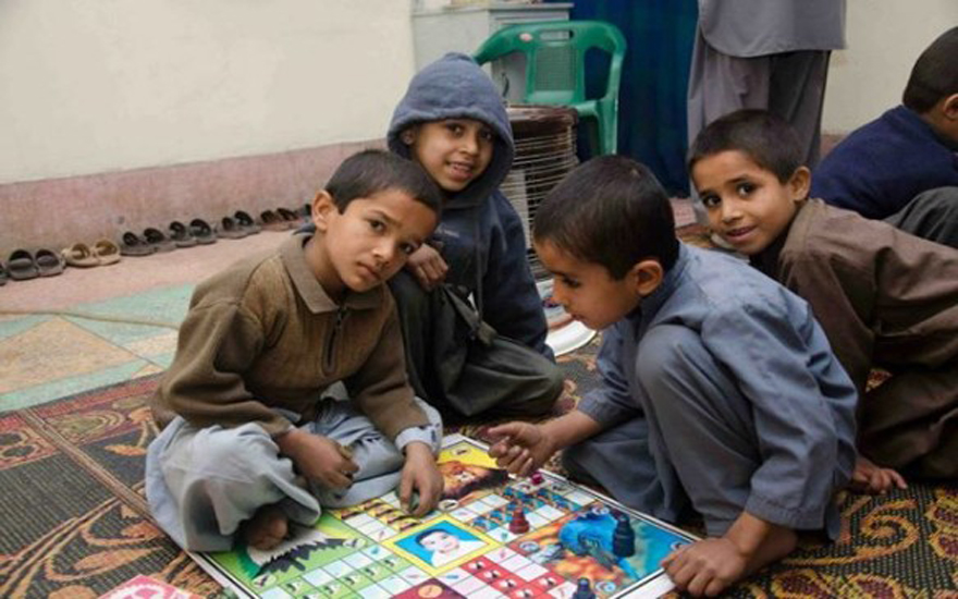 Dost Foundation offers temporary housing and healthy recreational activities for Peshawar's street children.