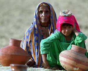 Water crisis: Already, rural, and even urban, Pakistanis face painful water shortages. Photo: AFP