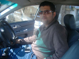 Fully abled: Umair Pirzada gets into and drives his customised car without assistance. Photo: Courtesy Umair Pirzada.
