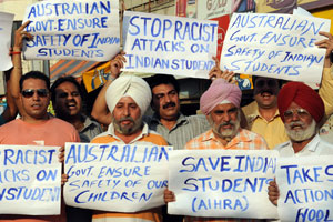 Enough is enough: Protesters demand action from the Australian government. Photo: AFP