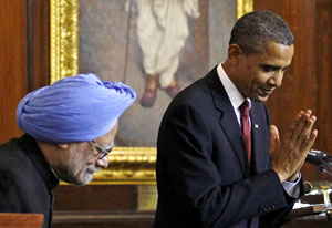 Manmohan Singh and Barack Obama. Photo: AFP