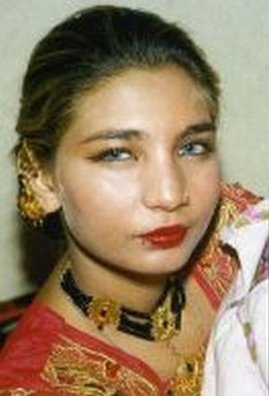 Fakhra Younas before she was attacked and burned with acid.