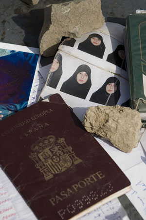 Foreign fighters: One of the foreign passports recovered belonged to Raquel Burgos Garcia, a woman from Spain who converted to Islam. Photo: AFP