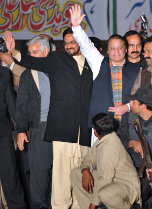 At all costs: Nawaz Sharif threw the weight of an entire party behind his candidate. Photo: AFP