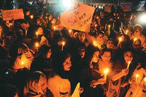 A vigil organised by civil society in Pakistan to mourn Salmaan Taseer's murder. Photo: courtesy outlookindia.com