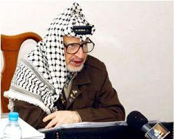 Yasser Arafat. Photograph: AFP