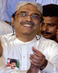 Asif Zardari. Photograph: AFP