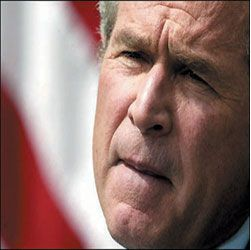 George W. Bush. Photograph: AFP