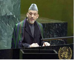 Hamid Karzai. Photograph: AFP