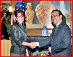 Sarah Palin and Asif Zardari