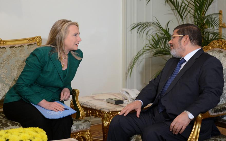 PALESTINIAN-ISRAEL-CONFLICT-GAZA-EGYPT-US-CLINTON