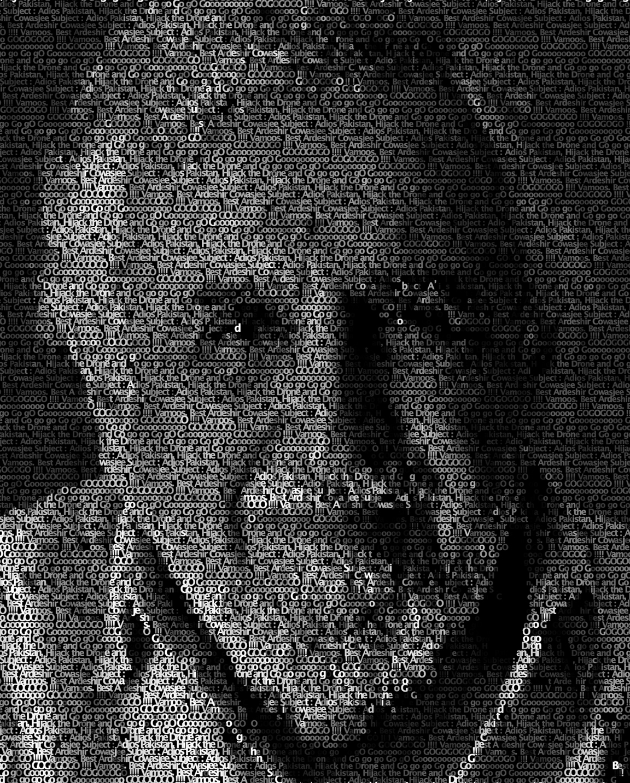 11. Taqi Shaheen - Ardeshir Cowasjee - Giclee Print on Canva