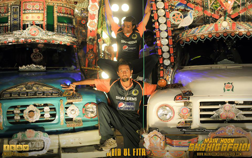 keep on truckin: Actors from Main Hoon Shahid Afridi in a lighter mode.