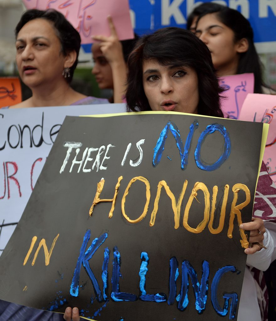 PAKISTAN-UNREST-HONOUR-KILLING-PROTEST