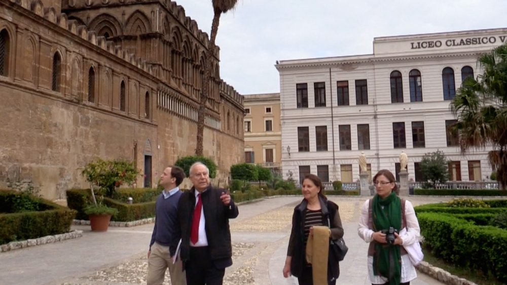 akbar-ahmed-and-team-at-palermo-cathedral-sicily